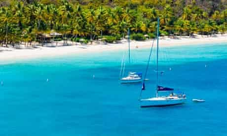 The British Virgin Islands, location of many of the offshore accounts