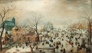 Rijksmuseum: Hendrick Avercamp, Winter landscape with Skaters