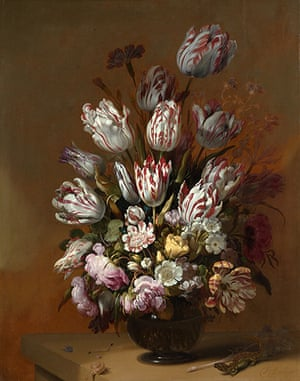 Rijksmuseum: Hans Bollongier, Still Life with Flowers, 1639. Oil on Panel