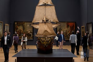 Rijksmuseum: A 1698 model of the late 17th century Dutch warship William Rex