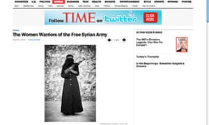 Time magazine's feature 'The Women Warriors of the Free Syrian Army'.