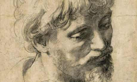 Raphael's Head of a Young Apostle