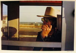 Eggleston: Los Alamos Portfolio, California, 1974. Walter Hopps in phone booth