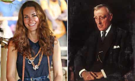 Kate, the Duchess of Cambridge and her great-great-great-uncle Sir Charles Lupton