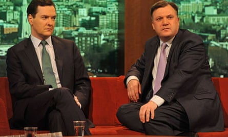 George Osborne, and Shadow Chancellor Ed Balls