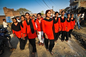 Red Brigade in the Midiyav slum in the city of Lucknow.