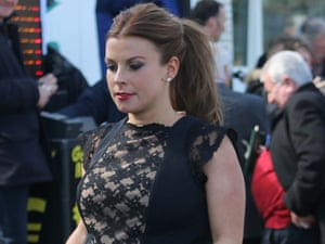 Coleen Rooney arrives at Aintree.