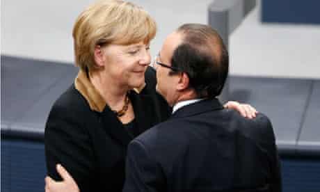 German Chancellor Angela Merkel and French President Francois Hollande