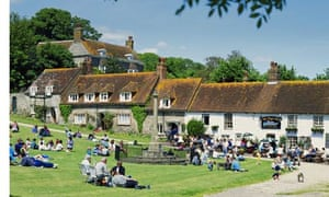 East Dean Village Green and Tiger Inn East Sussex England GB