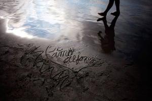 from the agencies: Rodrigo Abd at Agua Dulce beach in Lima, Peru