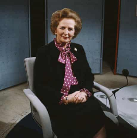 Margaret Thatcher in a pussy-bow blouse