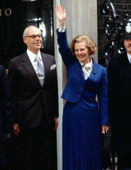 Margaret Thatcher on the day she was elected