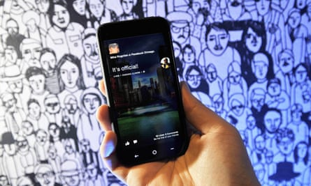 An HTC phone using the Facebook Home operating system