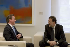 British Prime Minister David Cameron and Spanish Prime Minister, Mariano Rajoy discuss the EU.