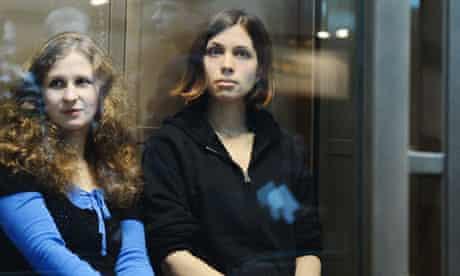 Maria Alyokhina and Nadya Tolokonnikova of Pussy Riot