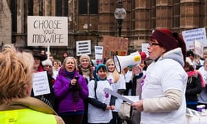 Indendent midwives protest