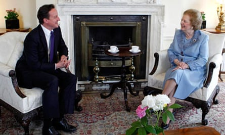 David Cameron and Lady Thatcher pictured in 2010