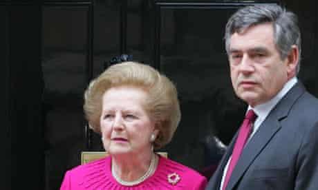 Margaret Thatcher and Gordon Brown