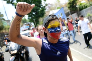 Supporters of Venezuelan opposition candidate Henrique Capriles arrive to a campaign rally in San Juan de los Morros, Guarico state. Venezuela's acting president Nicolas Maduro has accused former US officials Roger Noriega and Otto Reich of plotting to kill him to prevent his victory in next week's presidential elections.