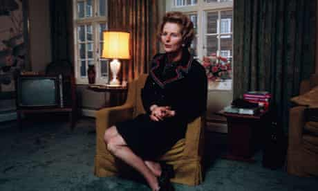 Margaret Thatcher in her London Apartment