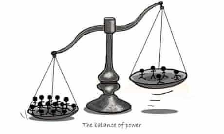 Cartoon illustrating the statistical 'balance of power' of studies