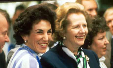 Edwina Currie and Margaret Thatcher in 1989.