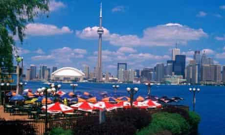 Docks Restaurant  Toronto Skyline,Ontario
