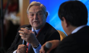 George Soros, who argued today that Germany should drop its opposition to collective euro borrowing.
