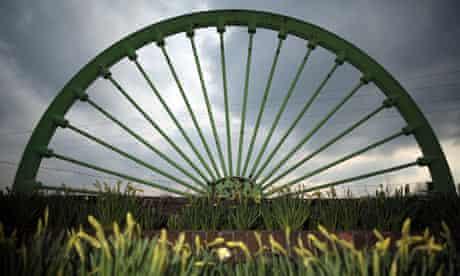 The winding wheel of the Treeton colliery