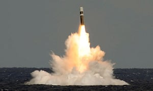 Unarmed Trident missile fired from HMS Vigilant