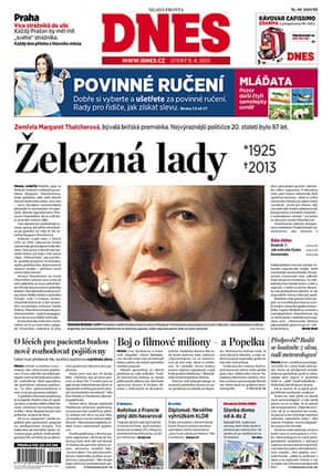 World Maggie front pages : Thatcher International newspaper front pages