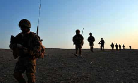 British soldiers near Nahr-e Saraj
