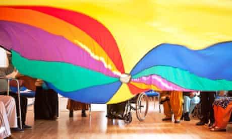 Action on Stroke Month: rainbow parachute