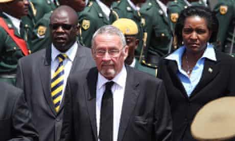 Zambian deputy President Guy Scott in Harare, Zimbabwe