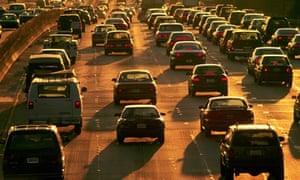 Heavy Traffic LA Freeway