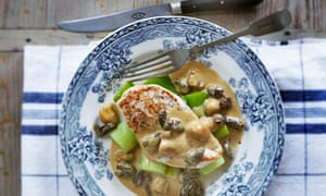Chicken with morels and sherry sauce: Raymond Blanc