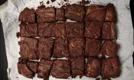 Snow-flecked chocolate brownies: Nigella Lawson