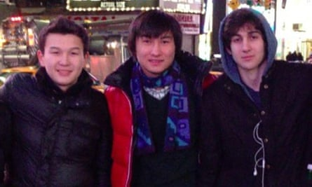 Azamat Tazhayakov and Dias Kadyrbayev, from Kazakhstan, with Boston Marathon bombing suspect Dzhokhar Tsarnaev in Times Square in New York, in a picture taken from the VK page of Dias Kadyrbayev.