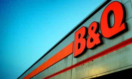 B&Q store sign