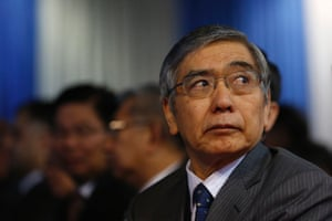 Bank of Japan governor Haruhiko Kuroda says the central bank does not target currency rates.