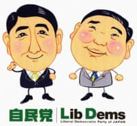 Shinzo Abe and Shigeru Ishiba