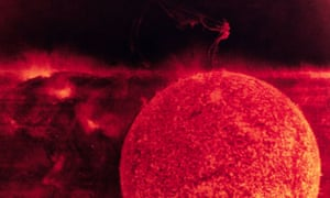 A coronal mass ejection on the sun