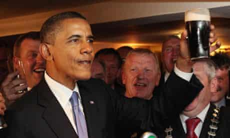 US president Barack Obama on 2011 visit to Ireland
