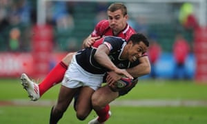 Nick Edwards of USA vs Vladimir Ostroushko of Russia during IRB Glasgow Severns