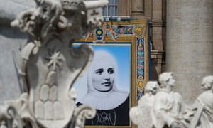 A picture of Laura of St Catherine of Siena, one of the new saints named by Pope Francis