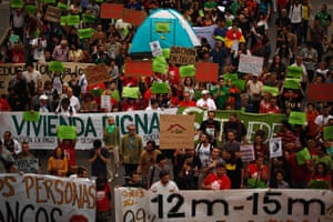 Demonstrators march on the second anniversary of the 15M movement in Malaga, southern Spain May 12, 2013