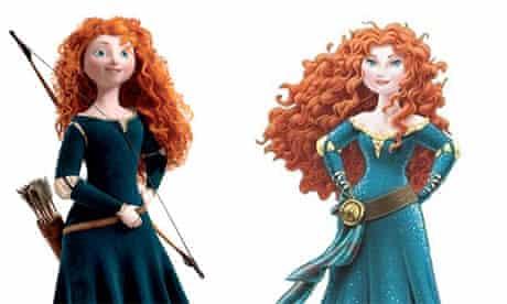 Princess Merida before and after