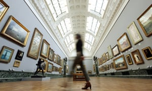 It's all change at Tate Britain today as gallery workers are rehanging the permanent collection in order to display the art in chronological order. This is a change in philosophy from the current thematic system.