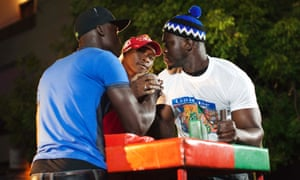 Arm wrestlers get ready for the fight during a competition in the Medina district of Dakar in Senegal. The 'Jaay Doole', which translated from Wolof means 'Show Your Strength', is a competition that aims to find the best arm wrestler in Senegal by holding tournaments throughout the country.