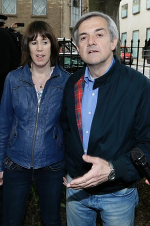 We've already had one picture of former prisoner and unlikely style icon Chris Huhne today. But this is a much better view of that Harrington jacket.